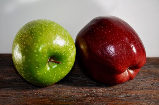 яблоки нейтрализуют неприятный запах