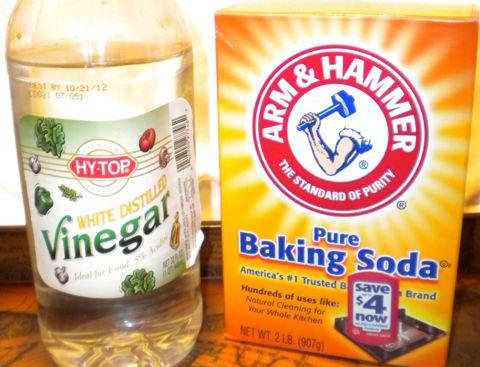 уксус и сода для избавления запахов из термоса