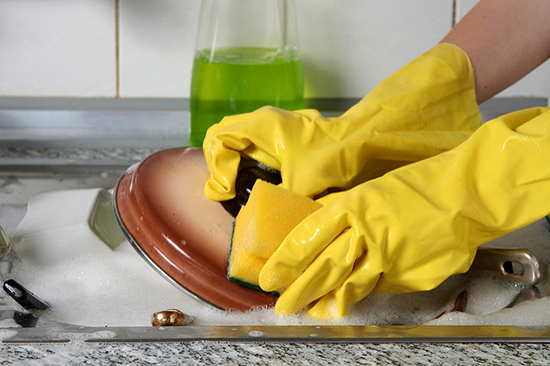 отмываем посуду от нагара