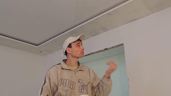 побелка на потолке и стенах
