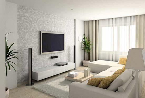 комната с ковром с длинным ворсом