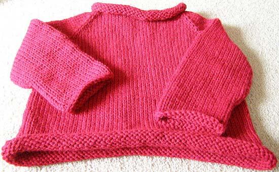 яркий шерстяной свитер