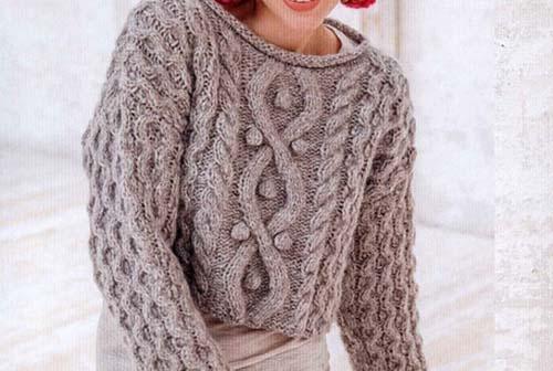 женский шерстяной свитер