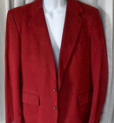 красный замшевый пиджак