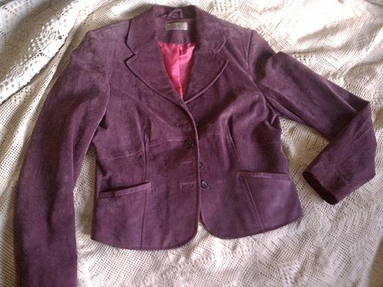 очищенная замшевая куртка