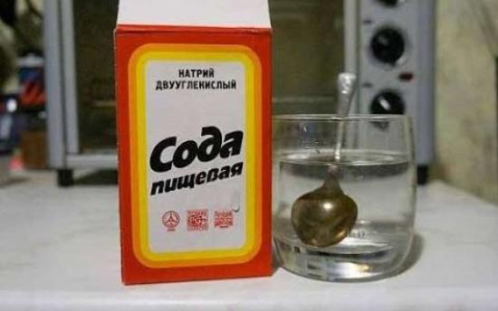 сода это народное средство для чистки серебра