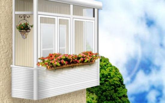 стеклянный балкон