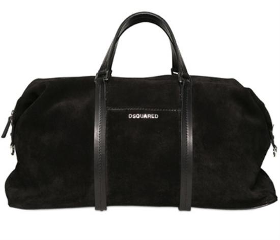 почищенная замшевая сумка