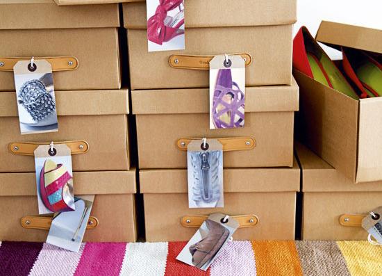 хранение обуви в коробках