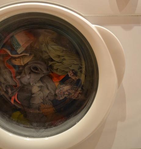 забитая стиральная машина