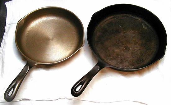 очищенная посуда