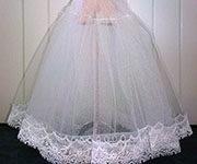 накрахмаленное свадебное платье