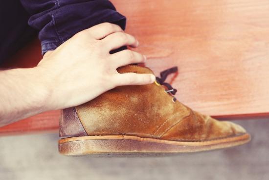 обновленная замшевая обувь
