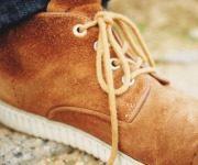 востановленная замшевая обувь