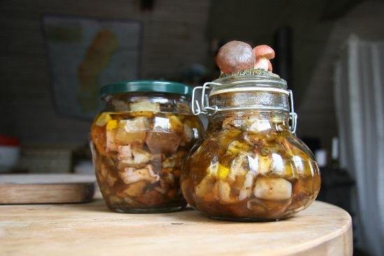 маринованные грибы домашнего приготовления